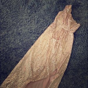 Max and Cleo Rose Gold Sequin Dress